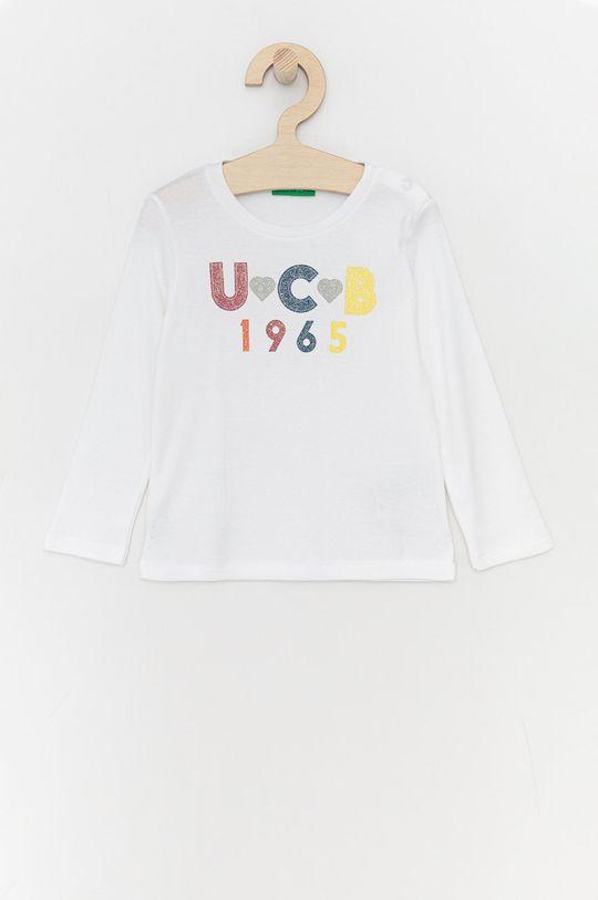 bílá United Colors of Benetton - Dětské tričko s dlouhým rukávem Dívčí