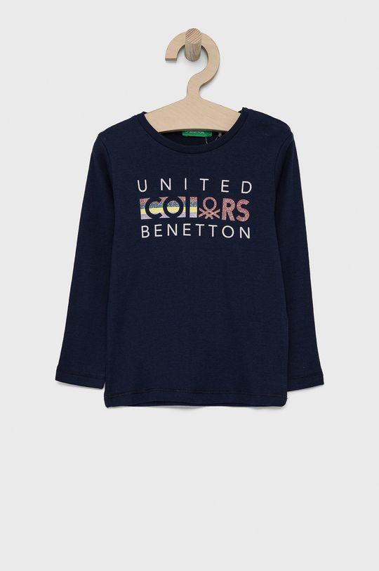 námořnická modř United Colors of Benetton - Dětské tričko s dlouhým rukávem Dívčí