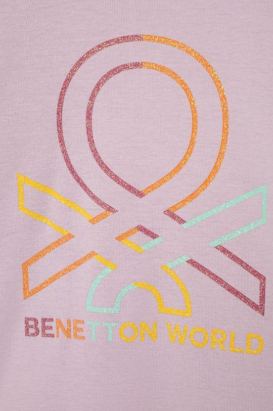 United Colors of Benetton - Dětské tričko s dlouhým rukávem růžová