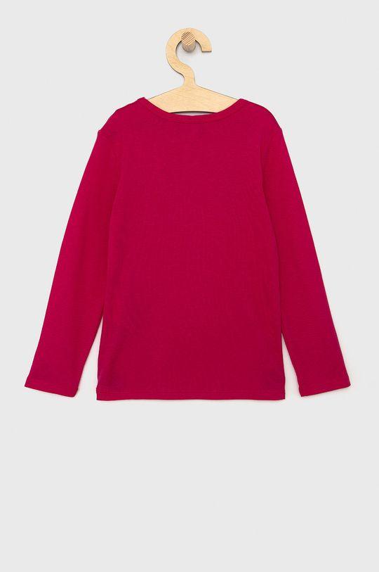 United Colors of Benetton - Dětské tričko s dlouhým rukávem fuchsiová
