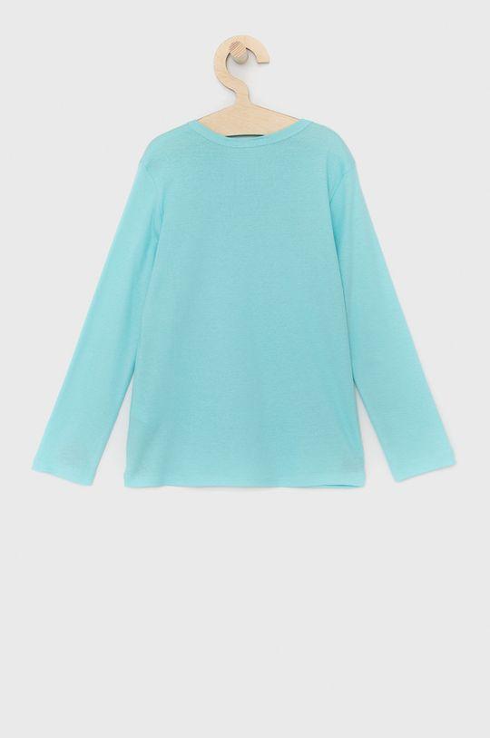 United Colors of Benetton - Dětské tričko s dlouhým rukávem tyrkysová
