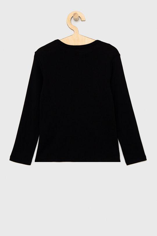 United Colors of Benetton - Dětské tričko s dlouhým rukávem černá