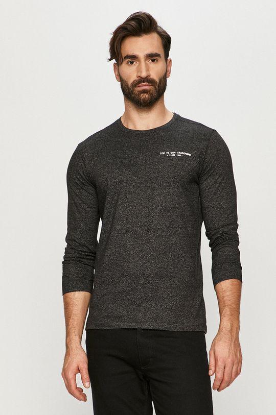 čierna Tom Tailor - Tričko s dlhým rukávom Pánsky