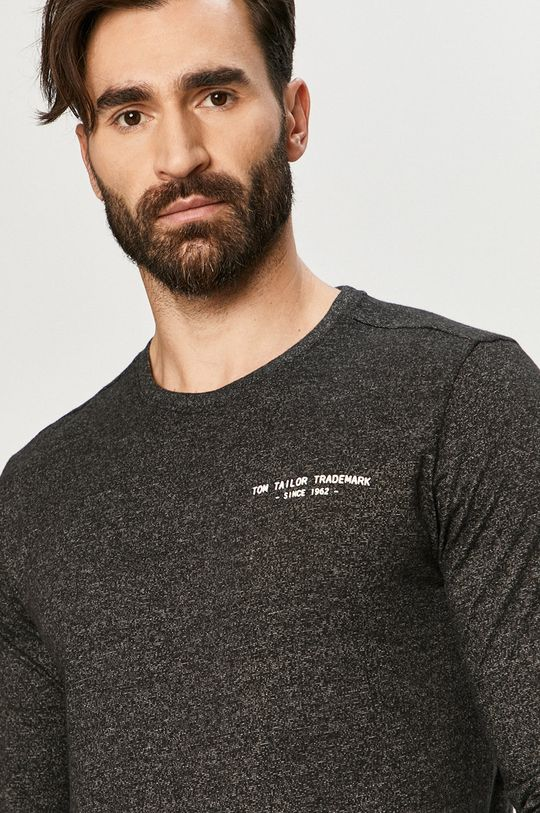 čierna Tom Tailor - Tričko s dlhým rukávom
