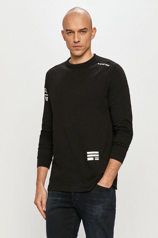 čierna G-Star Raw - Tričko s dlhým rukávom Pánsky