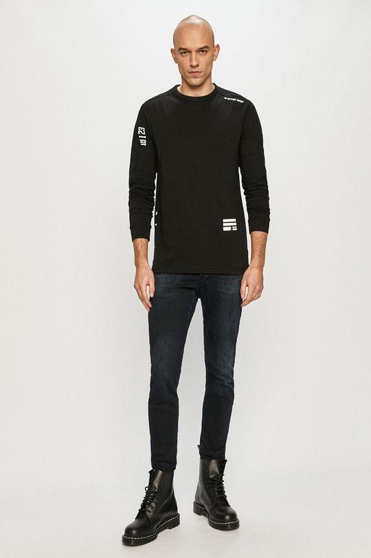 G-Star Raw - Tričko s dlhým rukávom čierna