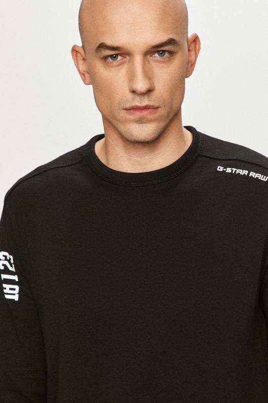 čierna G-Star Raw - Tričko s dlhým rukávom