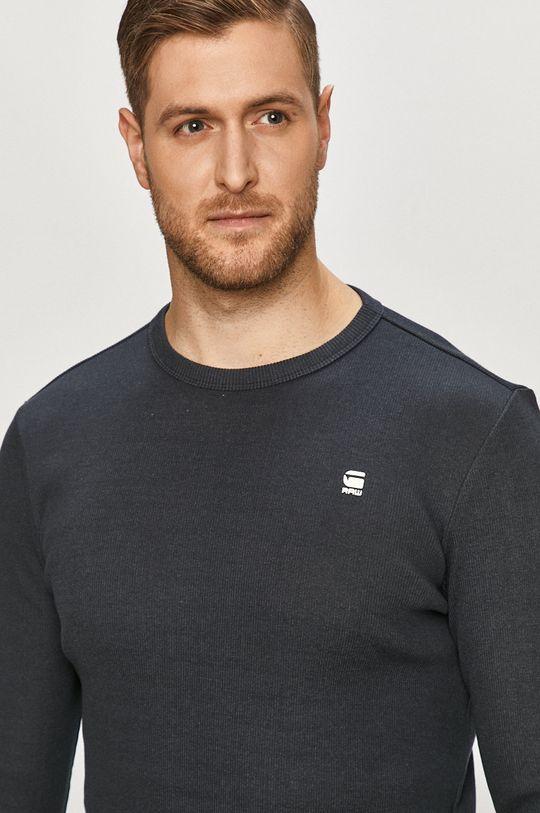 námořnická modř G-Star Raw - Tričko s dlouhým rukávem