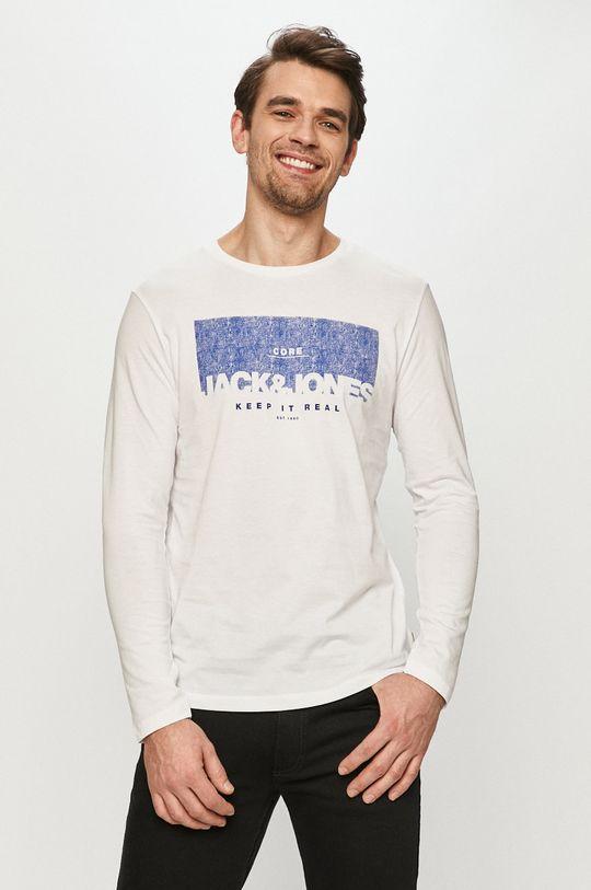 bílá Jack & Jones - Tričko s dlouhým rukávem Pánský