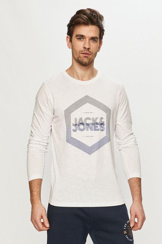 biały Jack & Jones - Longsleeve Męski