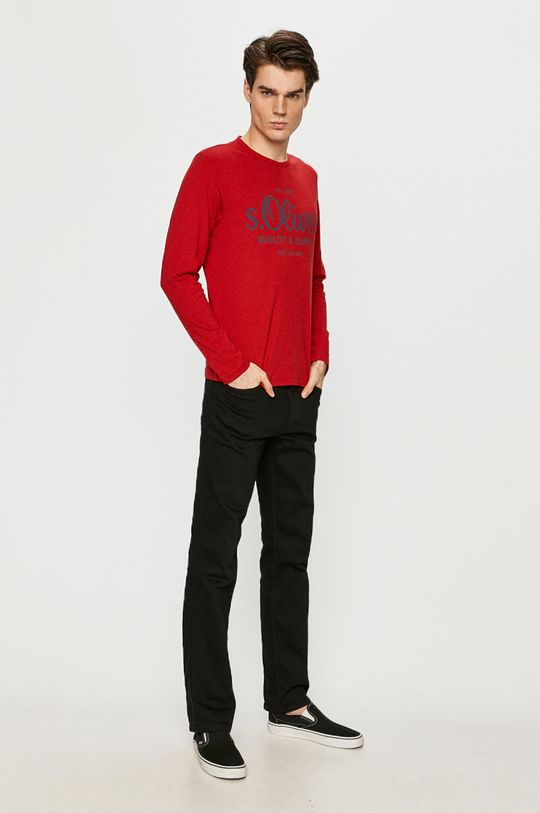 s. Oliver - Tričko s dlouhým rukávem červená