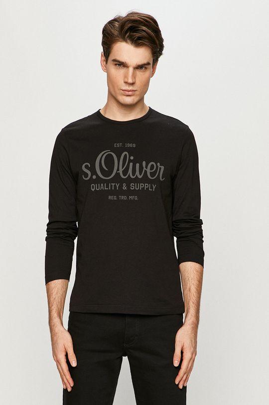 czarny s. Oliver - Longsleeve Męski