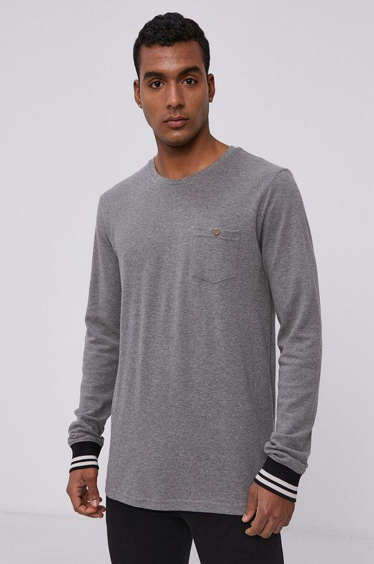 šedá Protest - Tričko s dlouhým rukávem Pánský