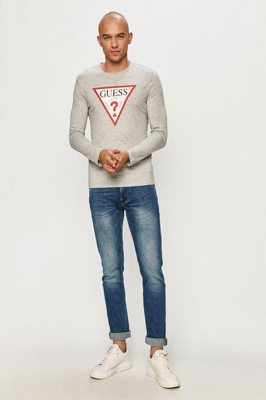 Guess - Tričko s dlouhým rukávem šedá