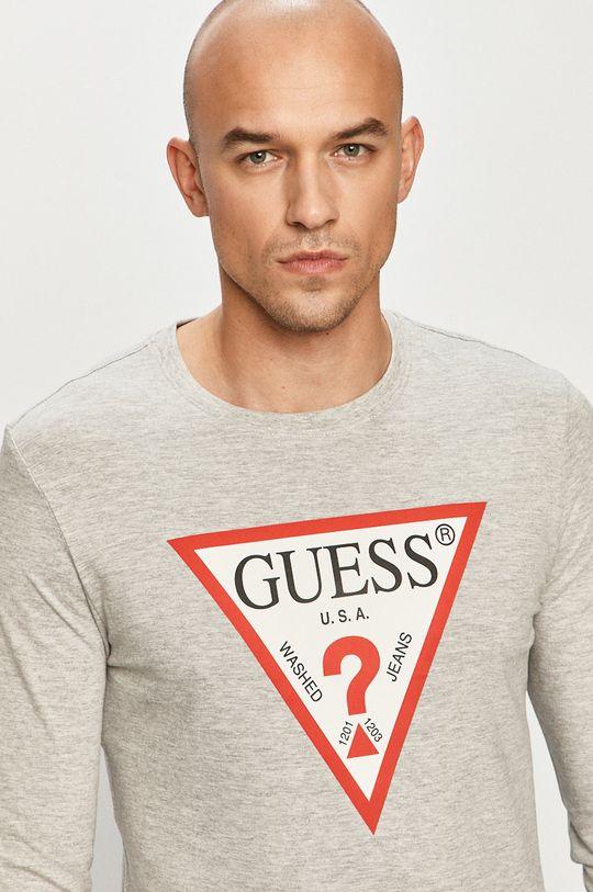 šedá Guess - Tričko s dlouhým rukávem