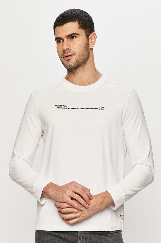 biały Guess - Longsleeve Męski