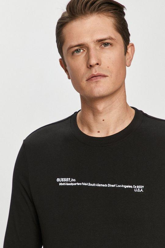černá Guess - Tričko s dlouhým rukávem