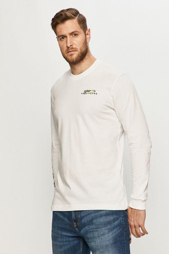 biały adidas Originals - Longsleeve Męski
