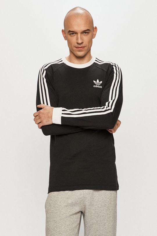 čierna adidas Originals - Tričko s dlhým rukávom Pánsky