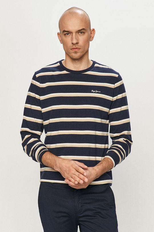 námořnická modř Pepe Jeans - Tričko s dlouhým rukávem Ander Pánský