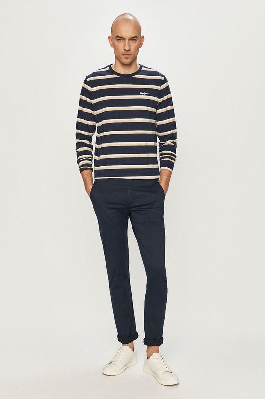 Pepe Jeans - Tričko s dlouhým rukávem Ander námořnická modř