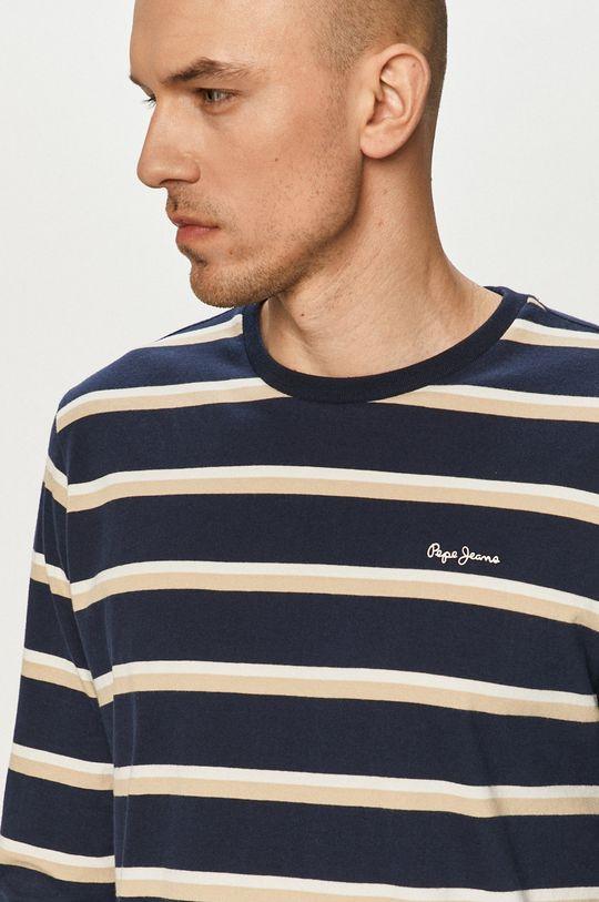 námořnická modř Pepe Jeans - Tričko s dlouhým rukávem Ander