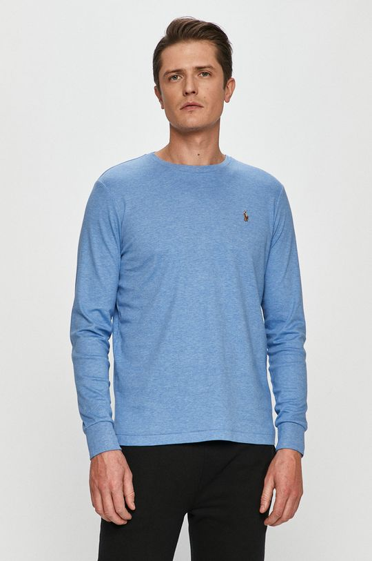 modrá Polo Ralph Lauren - Tričko s dlouhým rukávem Pánský