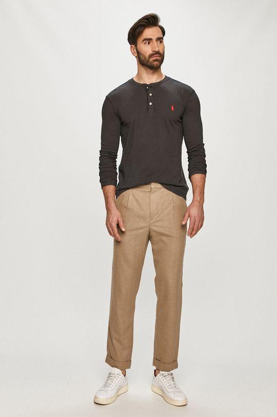 Polo Ralph Lauren - Tričko s dlouhým rukávem grafitová