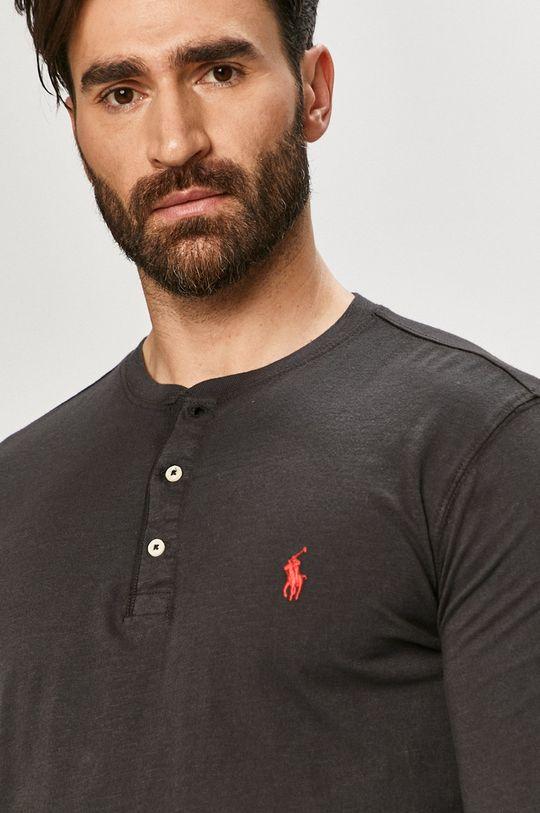 grafitová Polo Ralph Lauren - Tričko s dlouhým rukávem