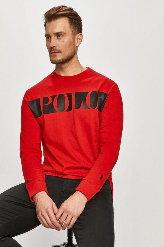 červená Polo Ralph Lauren - Tričko s dlhým rukávom Pánsky
