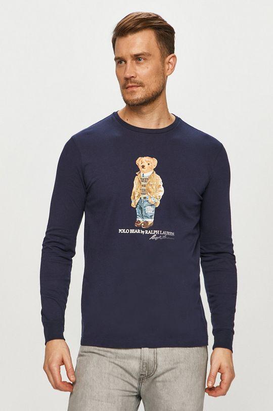 tmavomodrá Polo Ralph Lauren - Tričko s dlhým rukávom Pánsky