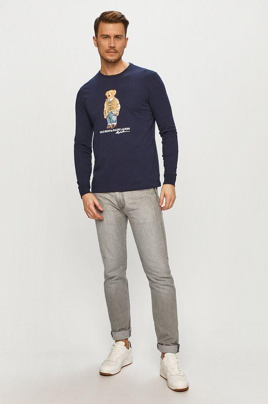 Polo Ralph Lauren - Tričko s dlhým rukávom tmavomodrá