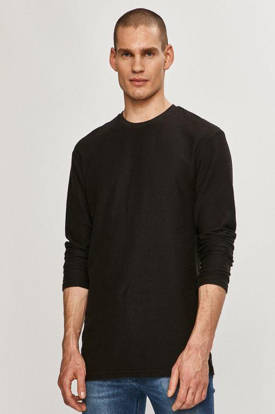 černá Tigha - Tričko s dlouhým rukávem Pánský