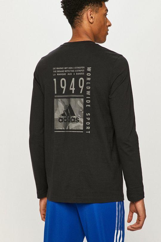 černá adidas - Tričko s dlouhým rukávem Pánský