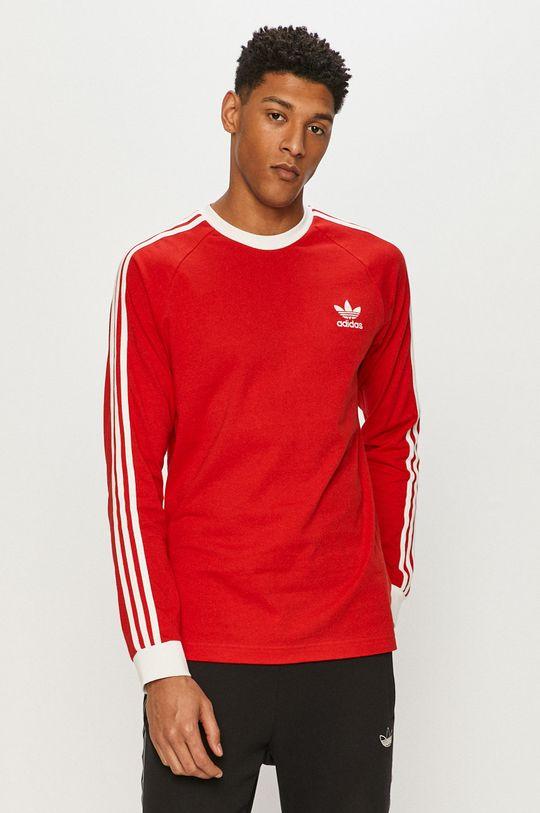 červená adidas Originals - Tričko s dlouhým rukávem Pánský