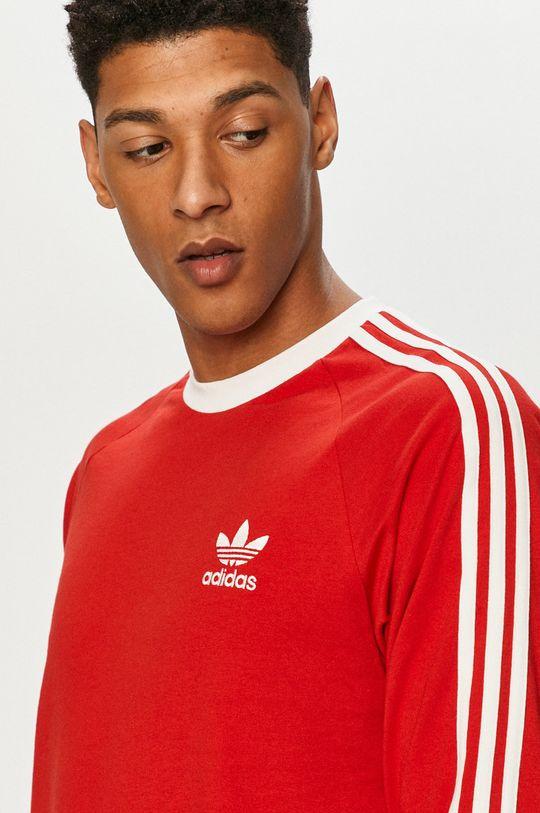 červená adidas Originals - Tričko s dlouhým rukávem