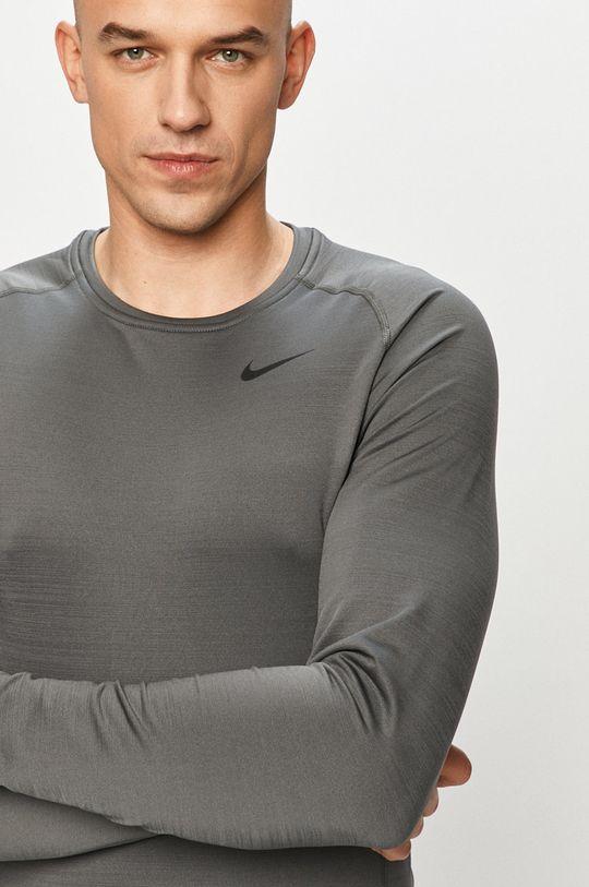 šedá Nike - Tričko s dlouhým rukávem Pánský