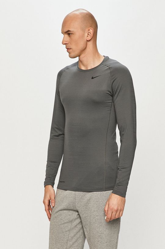 šedá Nike - Tričko s dlouhým rukávem