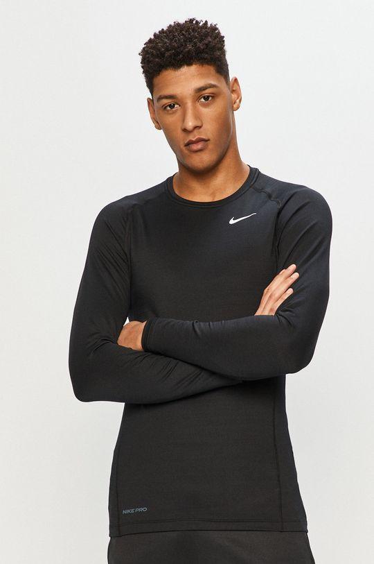 czarny Nike - Longsleeve Męski
