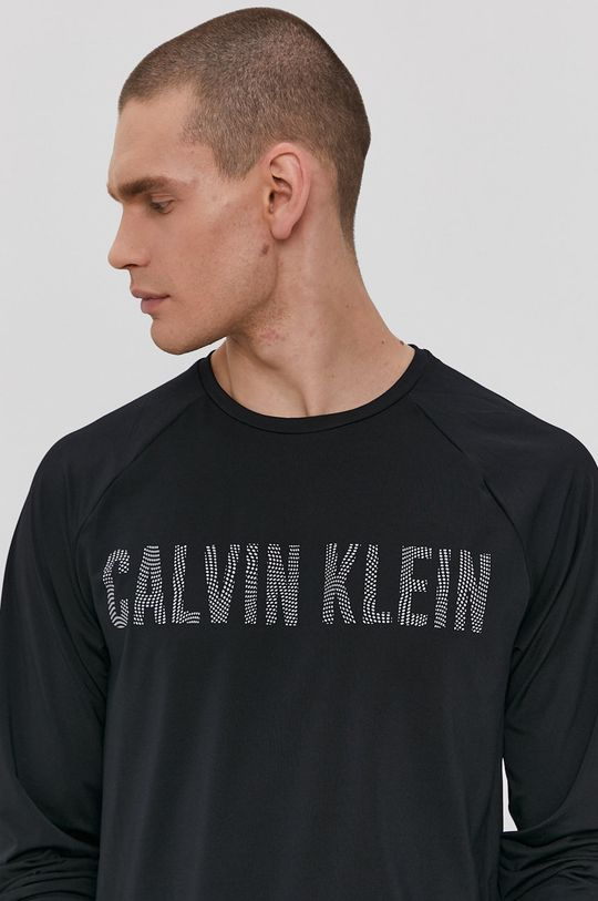 čierna Calvin Klein Performance - Tričko s dlhým rukávom