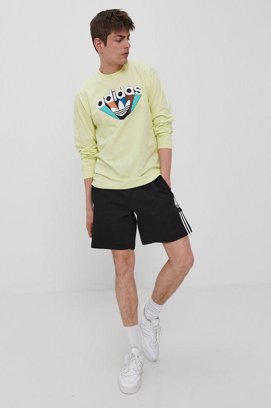adidas Originals - Longsleeve żółto - zielony