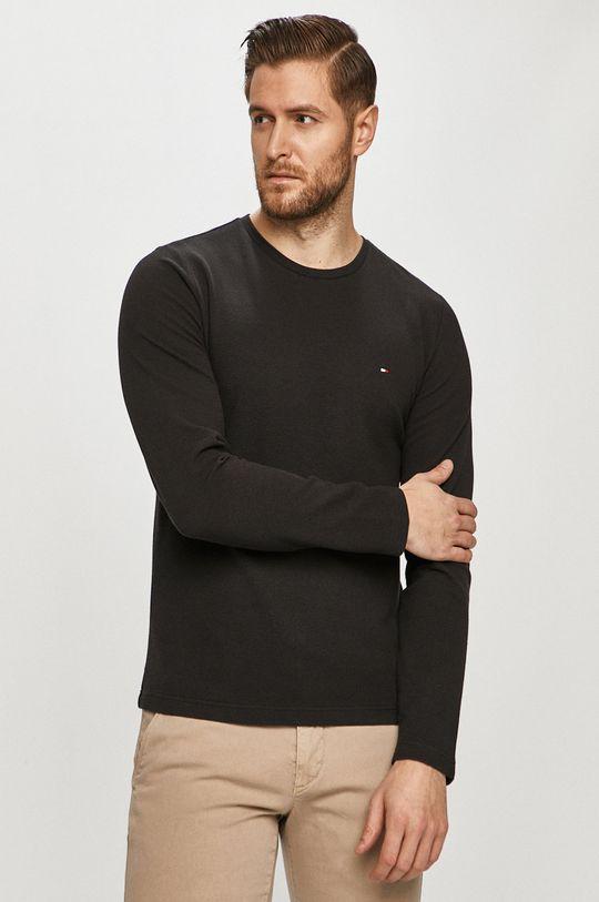 čierna Tommy Hilfiger - Tričko s dlhým rukávom Pánsky