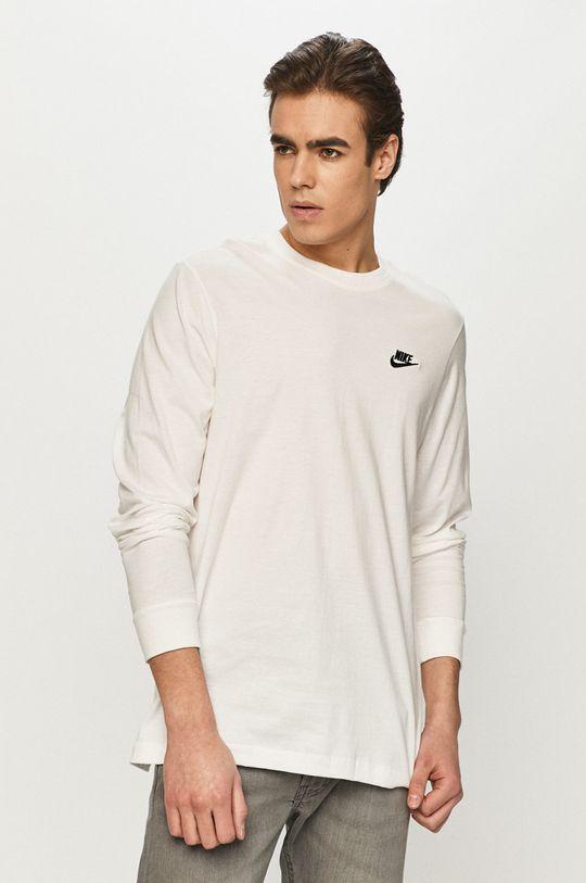 biały Nike Sportswear - Longsleeve Męski