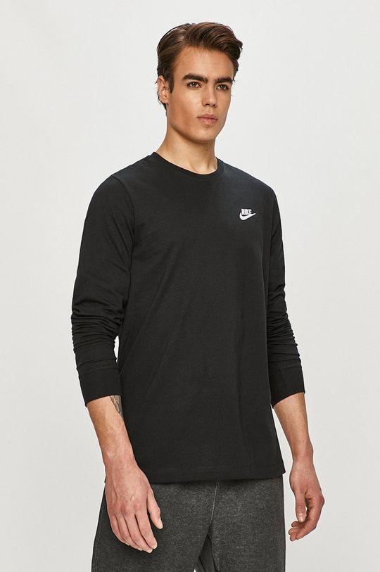 černá Nike Sportswear - Tričko s dlouhým rukávem Pánský