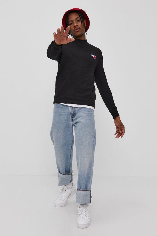 Tommy Jeans - Longsleeve czarny