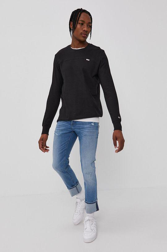 Tommy Jeans - Tričko s dlhým rukávom čierna