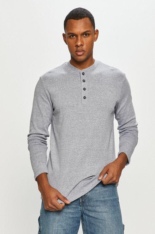 modrá Produkt by Jack & Jones - Tričko s dlhým rukávom Pánsky