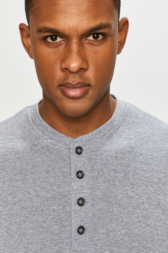 modrá Produkt by Jack & Jones - Tričko s dlhým rukávom