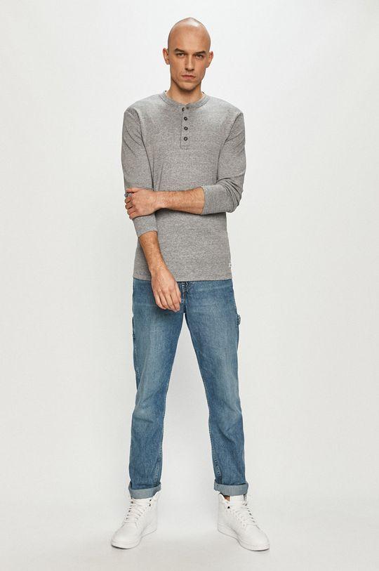 Produkt by Jack & Jones - Tričko s dlhým rukávom sivá