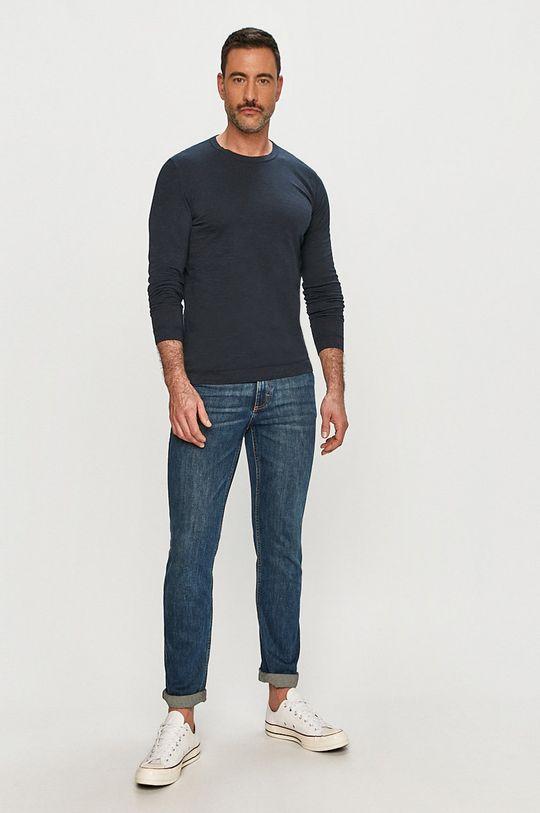 Marc O'Polo - Tričko s dlouhým rukávem námořnická modř